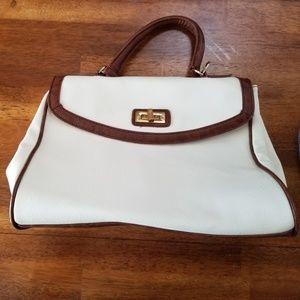 Faux leather ALDO purse white and brown handbag